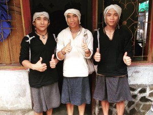 Three good looking porters originally from Baduy Dalam.